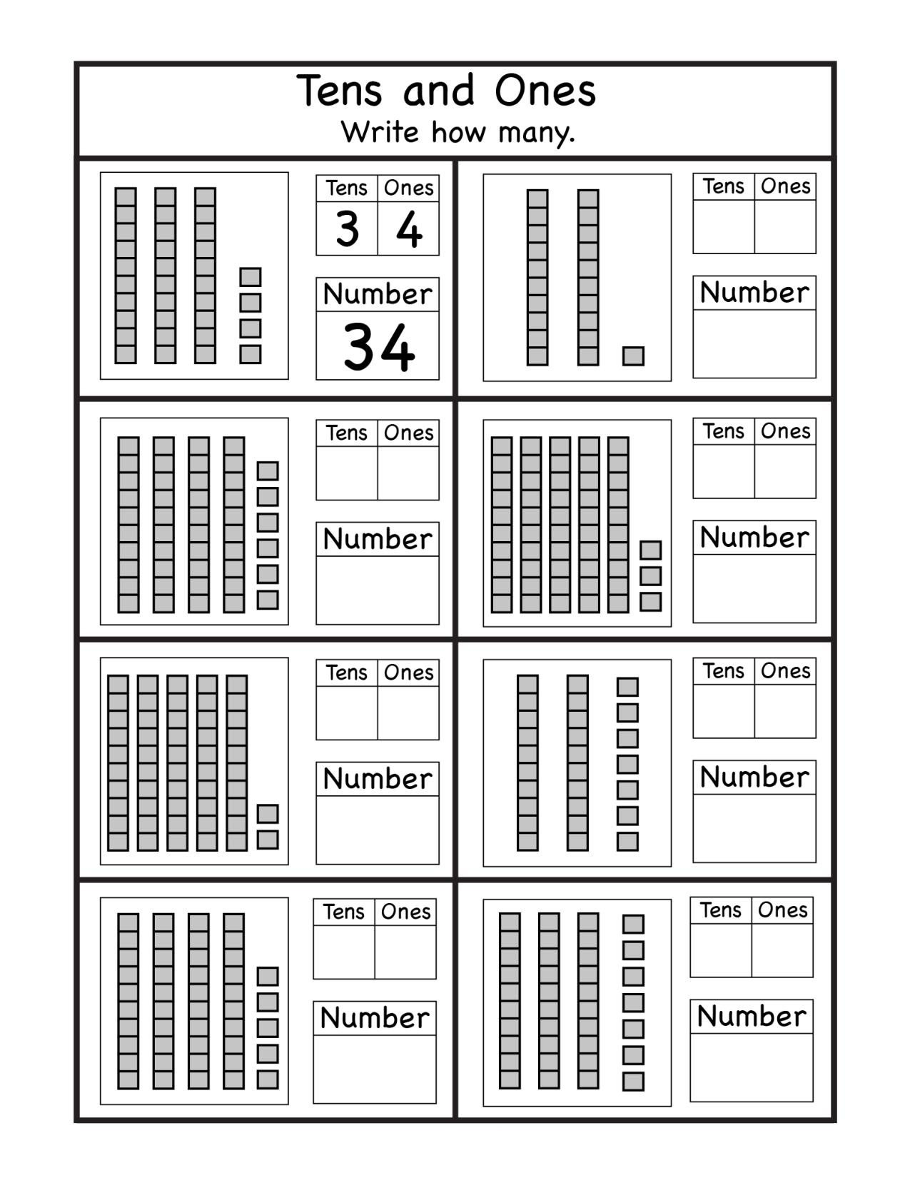 Tens and Ones Worksheets Kindergarten Kindergarten Archives Page 10 Of 32