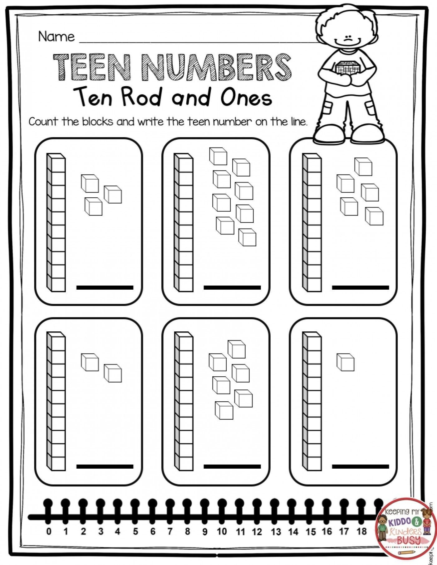 Tens and Ones Worksheets Kindergarten Pin On Worksheets for Kids