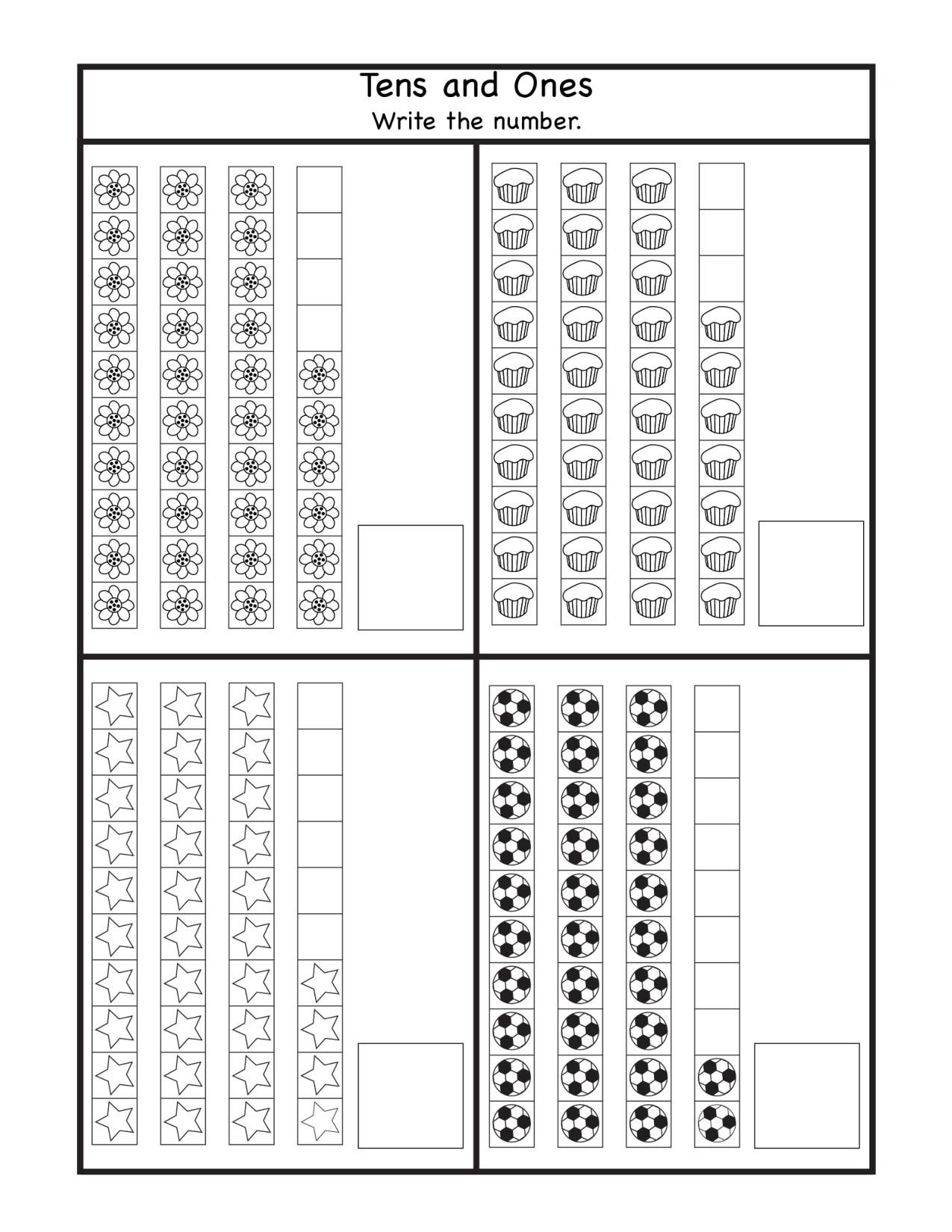 Tens and Ones Worksheets Kindergarten Place Value Archives
