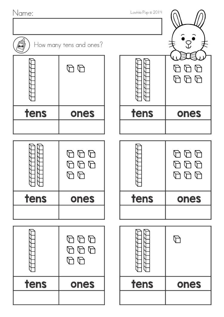 Tens and Ones Worksheets Kindergarten Spring Kindergarten Math and Literacy Worksheets