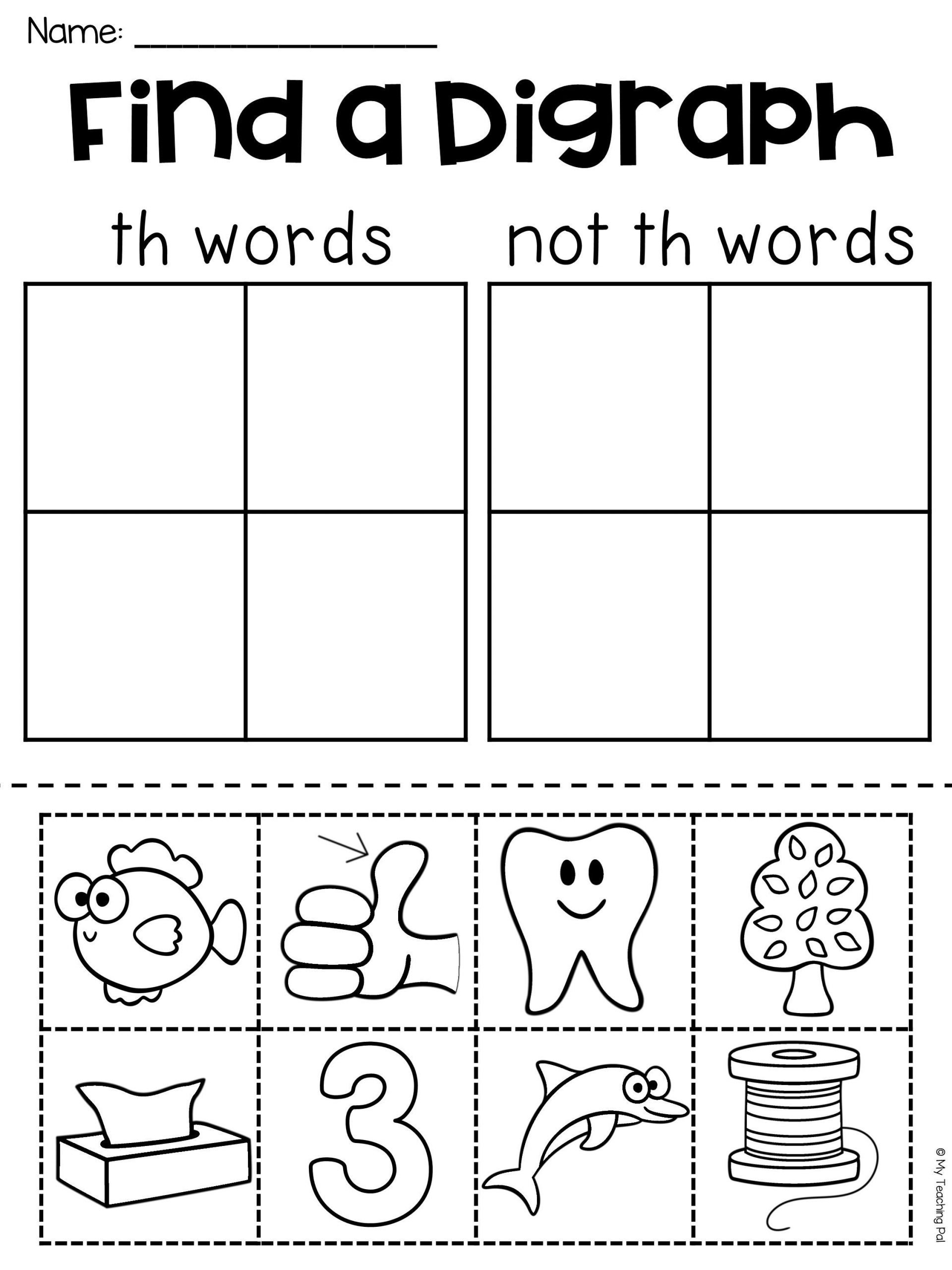 Th Worksheets for Kindergarten Th Worksheet Your Students Will Have so Much Fun Pleting