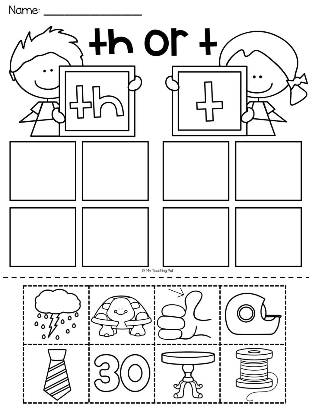 Th Worksheets for Kindergarten Worksheet Worksheets for Kindergarten Students Picture