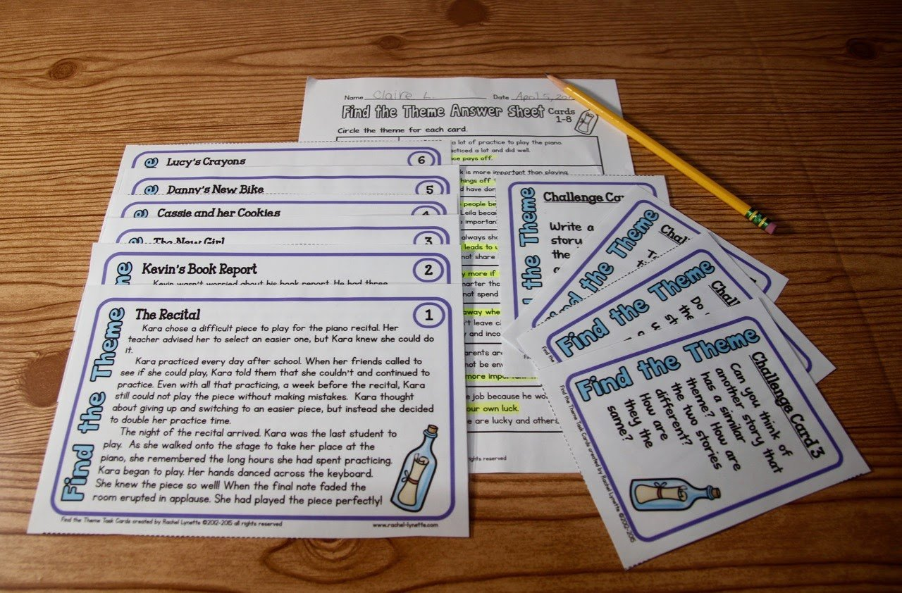 Theme Worksheet Grade 4 Ideas for Teaching theme and A Couple Freebies Minds In