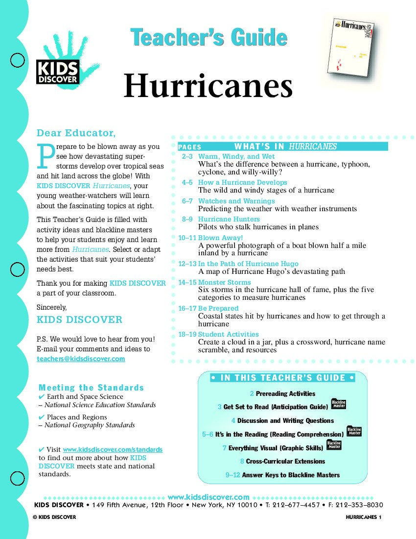 Tornado Worksheets for Kids Free Hurricane Worksheets for Kids