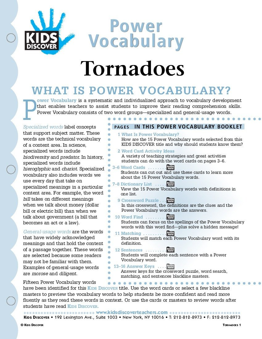 Tornado Worksheets for Kids tornadoes Kids Discover