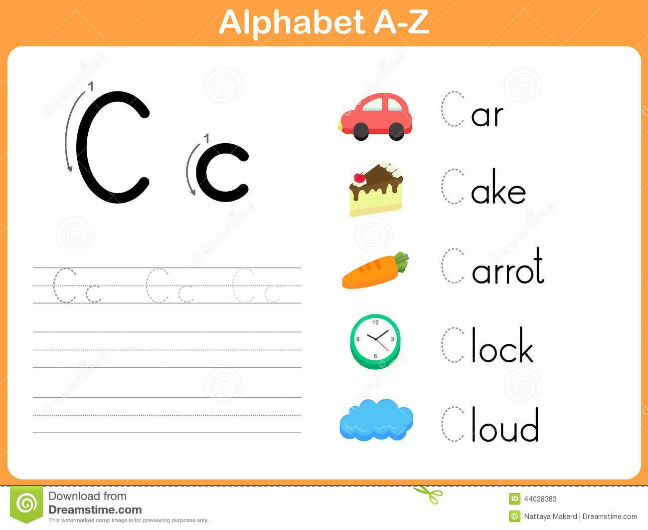 Tracing Letters Worksheet Az Alphabet Tracing Worksheet Stock Vector Illustration Of