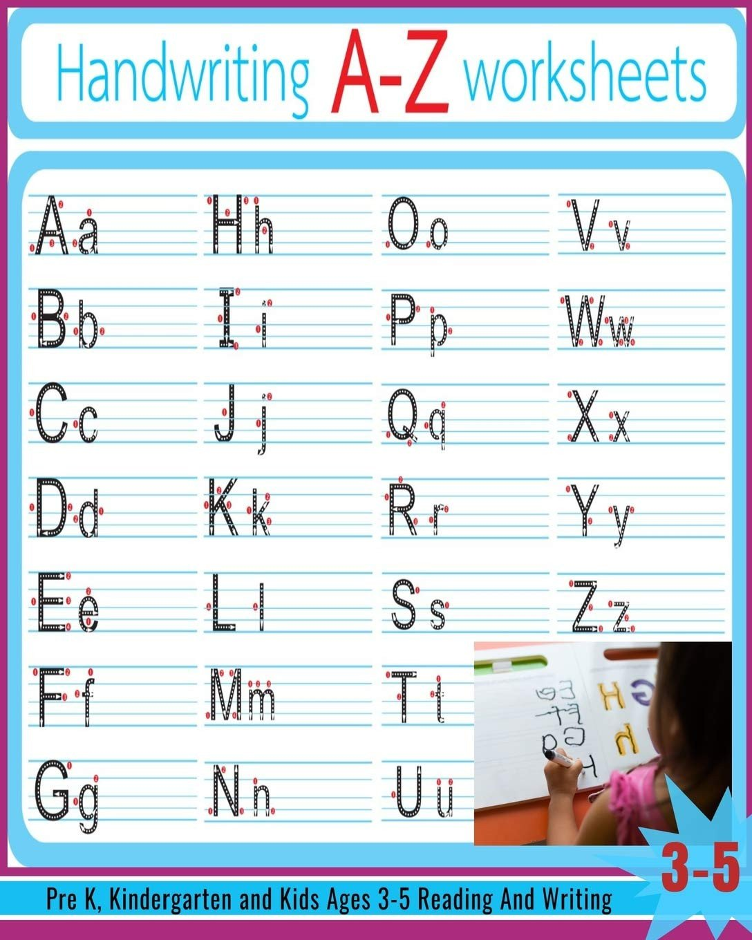 Tracing Letters Worksheet Az Handwriting A Z Worksheets Alphabet Tracing Letter Tracing