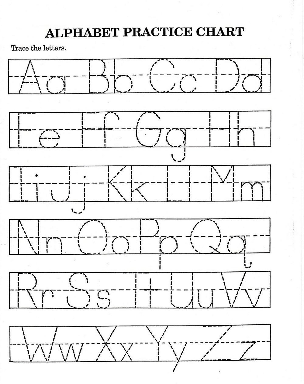 Tracing Letters Worksheet Az Traceable Alphabet Worksheets A Z