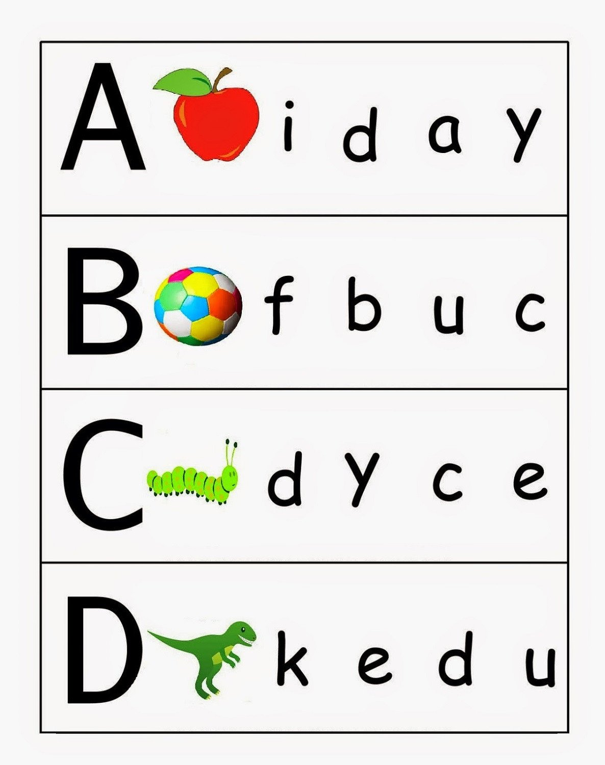 Uppercase and Lowercase Worksheets Uppercase and Lowercase Letters