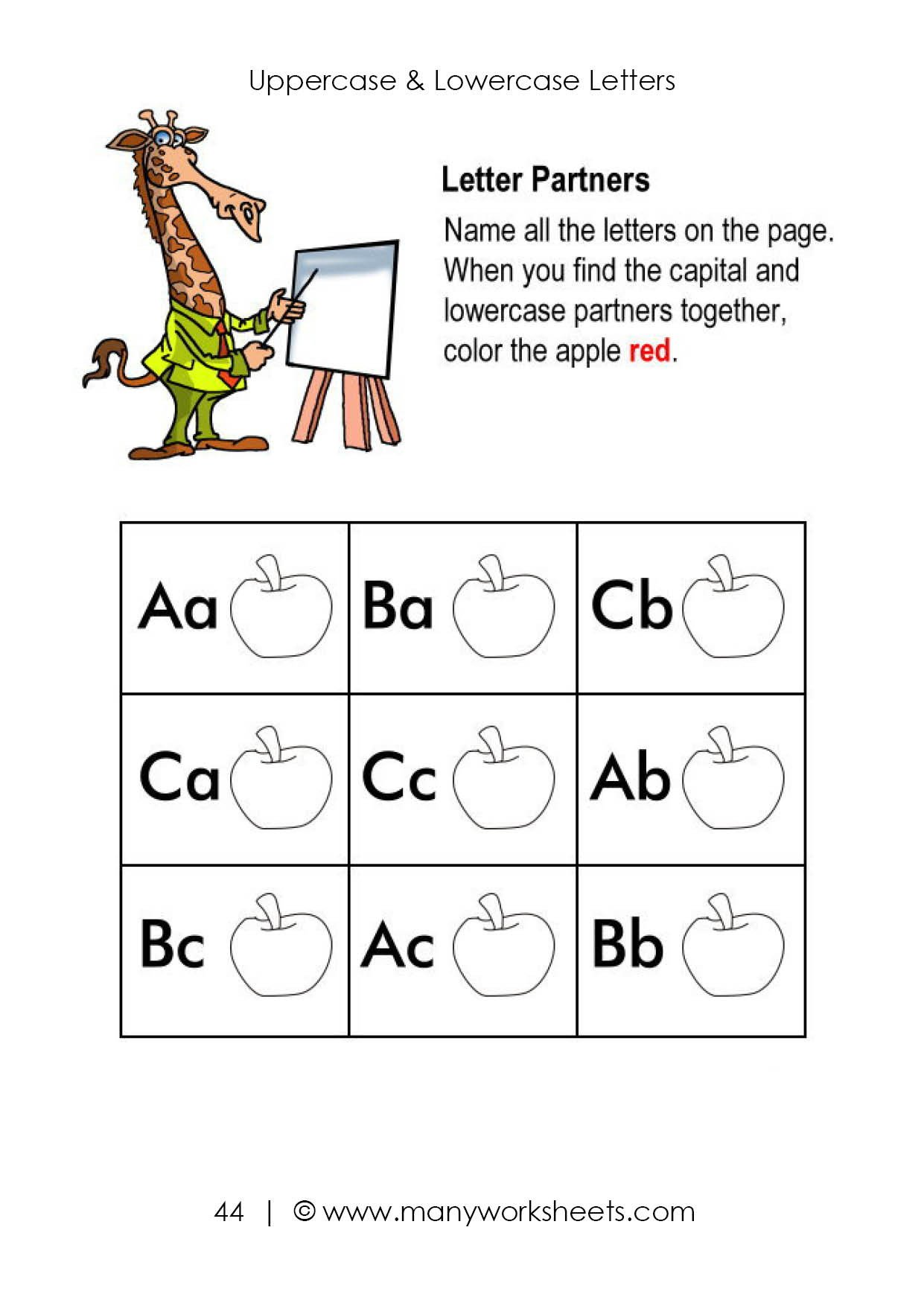 Uppercase and Lowercase Worksheets Uppercase and Lowercase Letters Worksheet