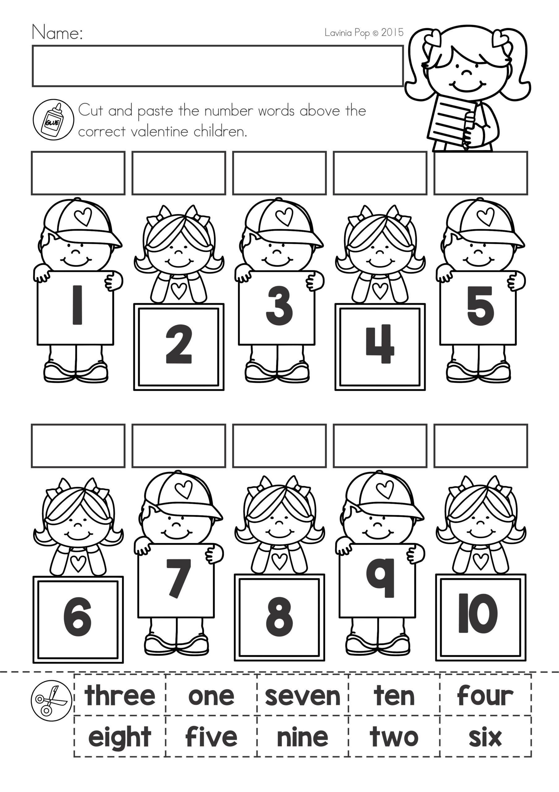 Valentine Math Worksheets for Kindergarten Childrens Christmas Printable Activities Middle School