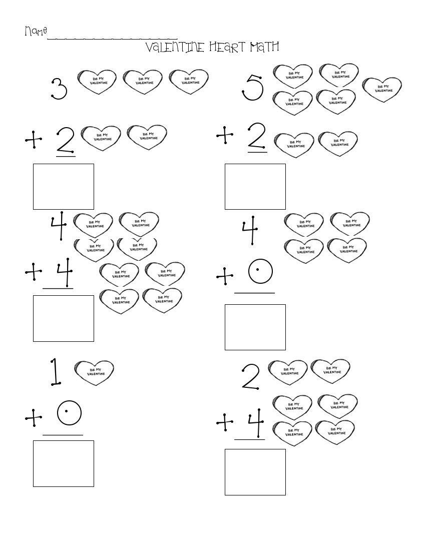 Valentine Math Worksheets for Kindergarten the Art Of Teaching A Kindergarten Blog Valentine Math
