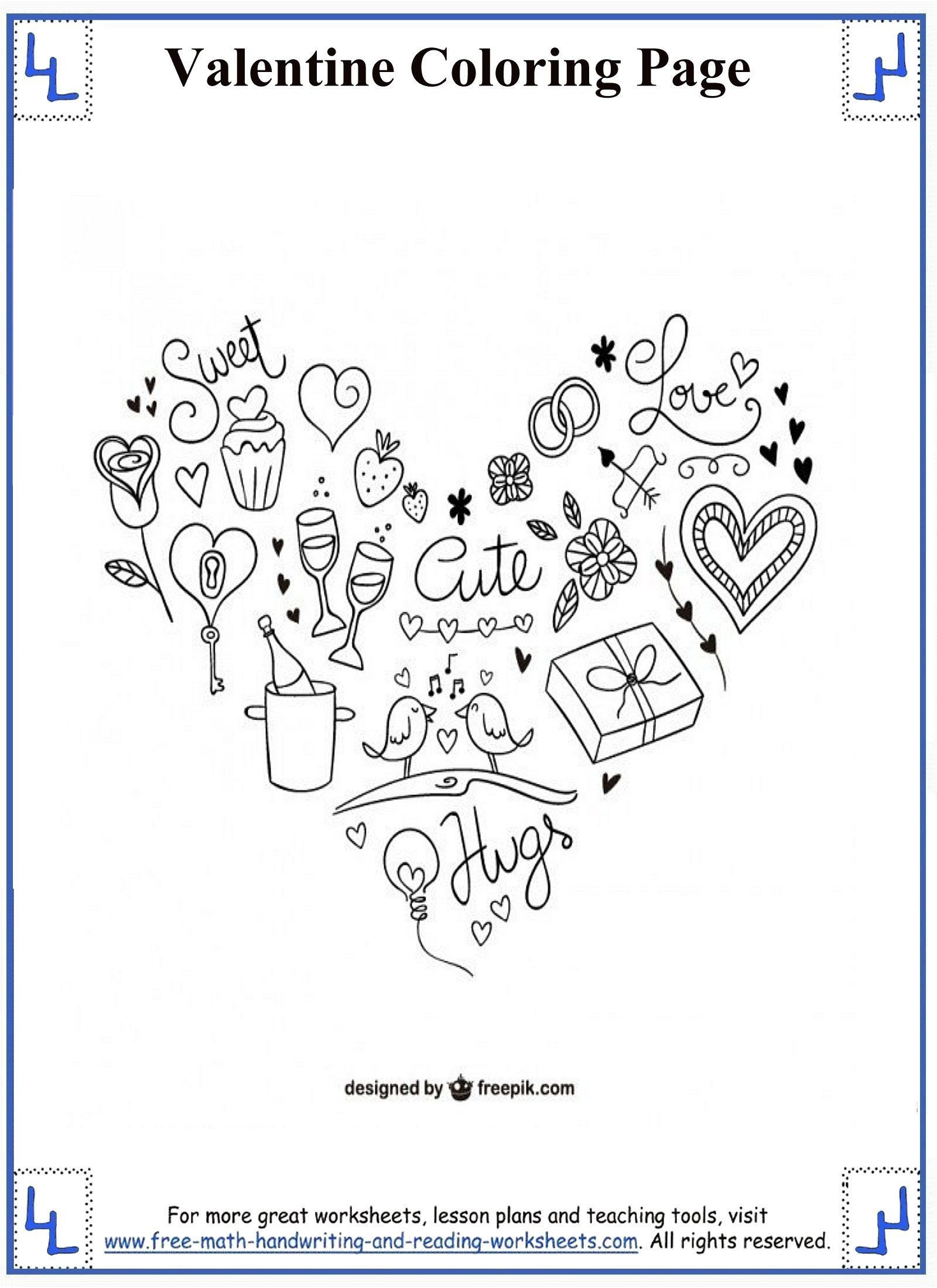 Valentine Math Worksheets for Kindergarten Valentine Math Coloring at Getdrawings Free Printable