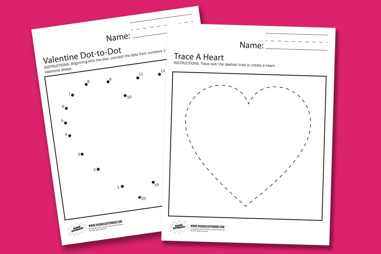 Valentines Day Kindergarten Worksheets Valentine Worksheets Paging Supermom