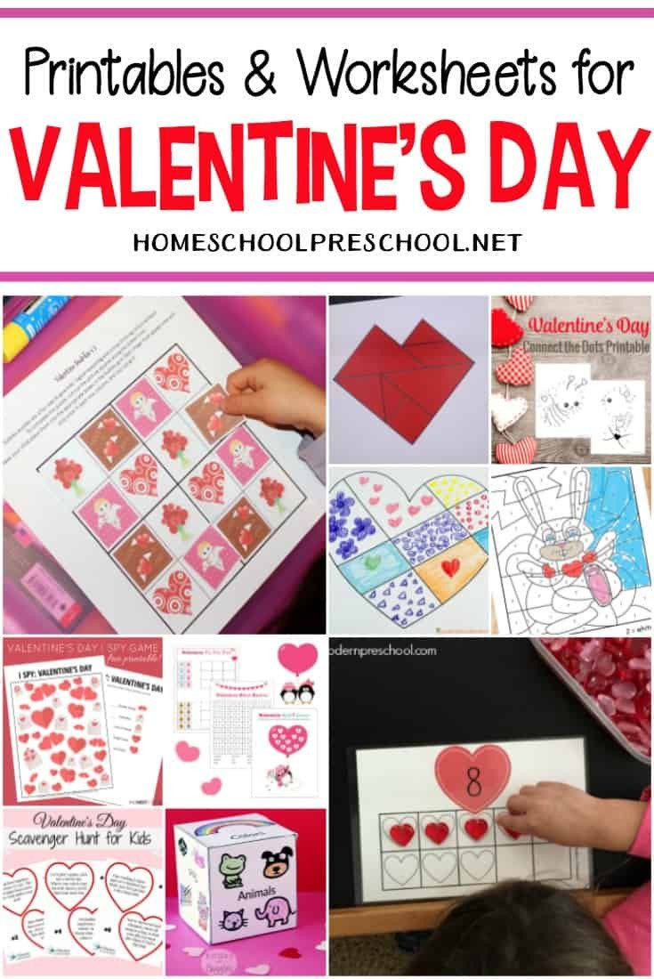 Valentines Day Worksheets for Kindergarten 24 Free Printable Valentines Worksheets for Kids