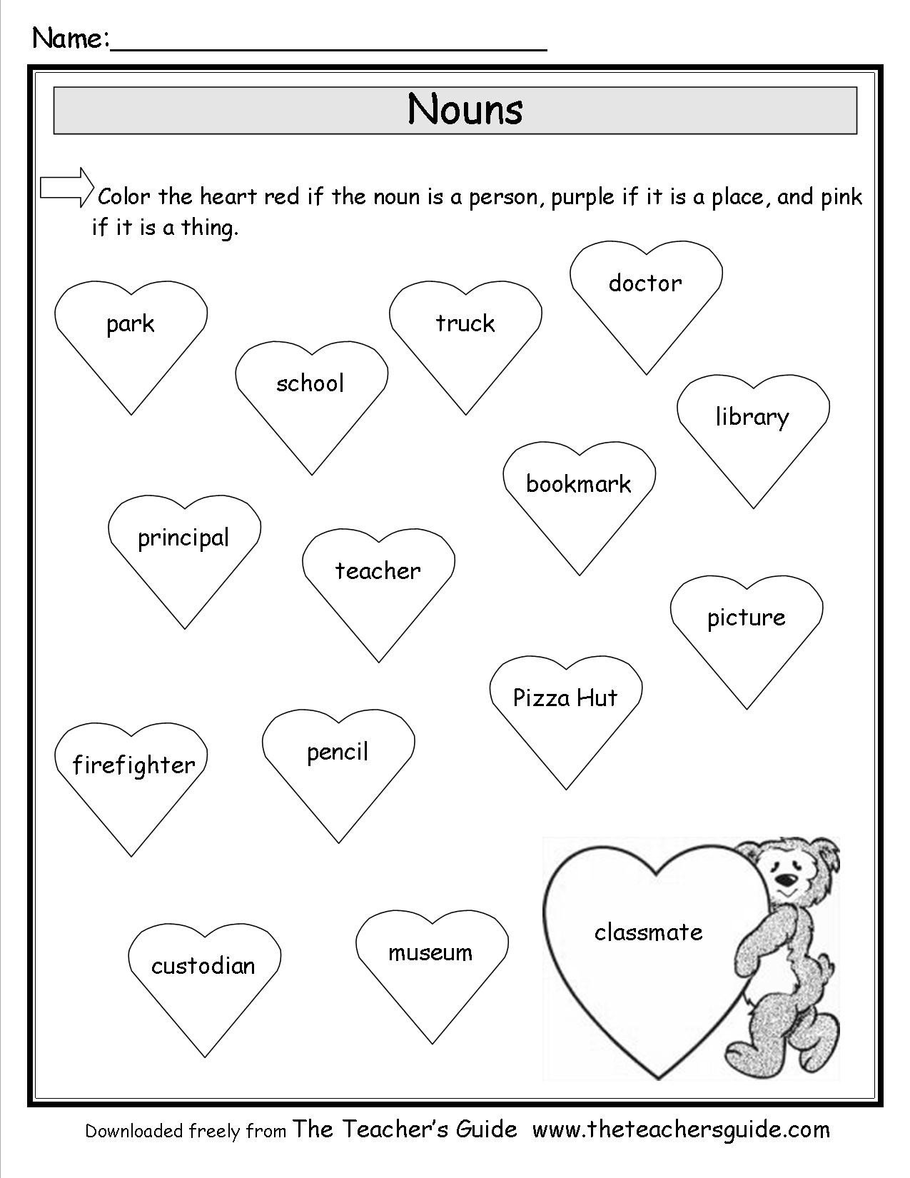 Valentines Day Worksheets for Kindergarten Valentine Printouts From the Teacher Guide Printable