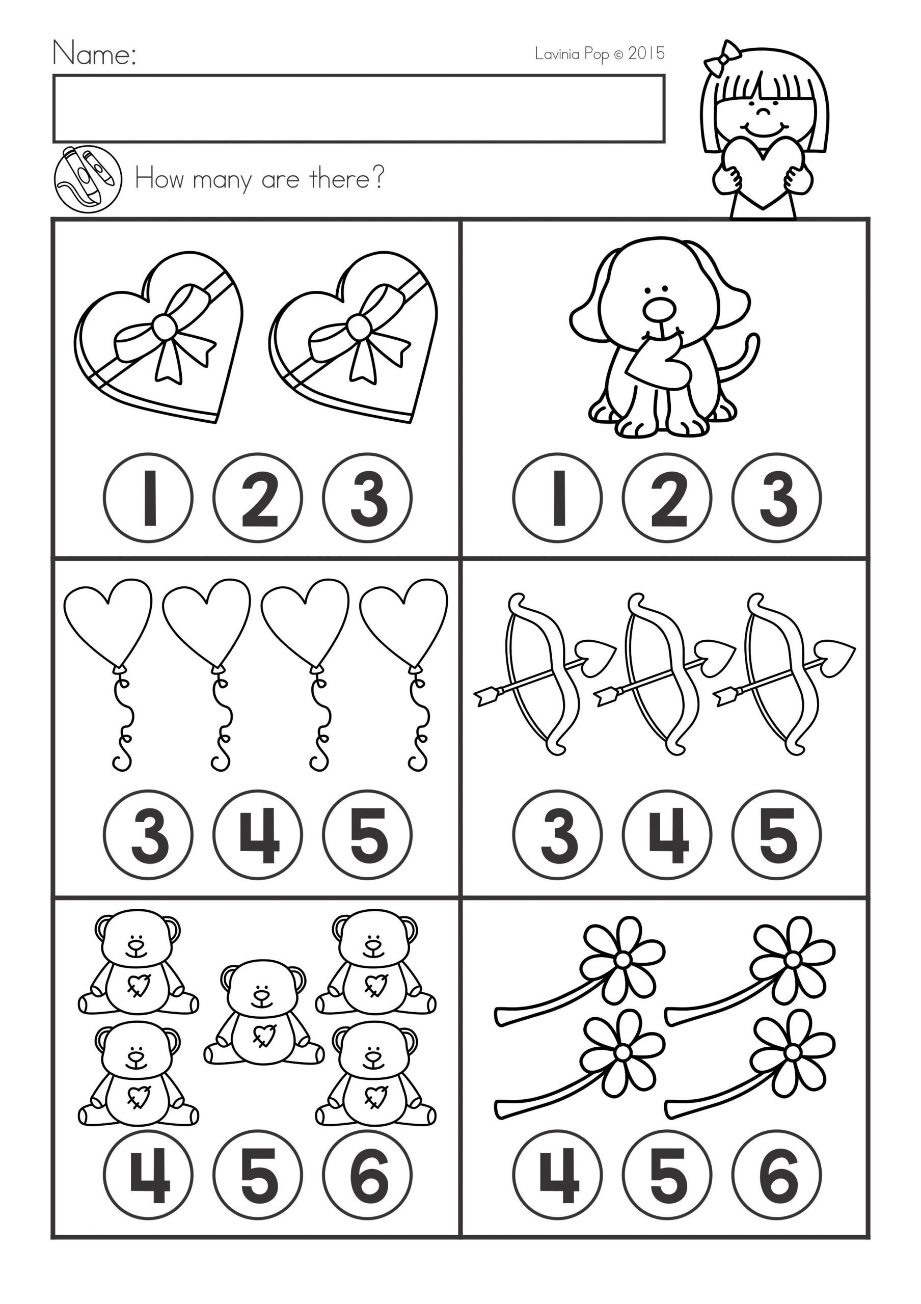 Valentines Day Worksheets for Kindergarten Valentine S Day Math & Literacy Worksheets & Activities No