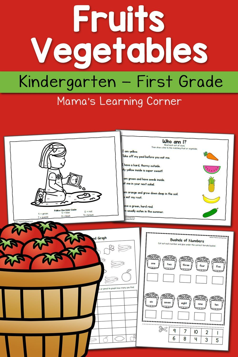Fruits and Ve ables Kindergarten and 1st Packet