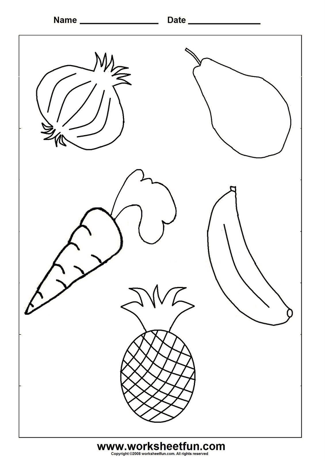 Vegetable Worksheets for Preschool Worksheetfun Free Printable Worksheets