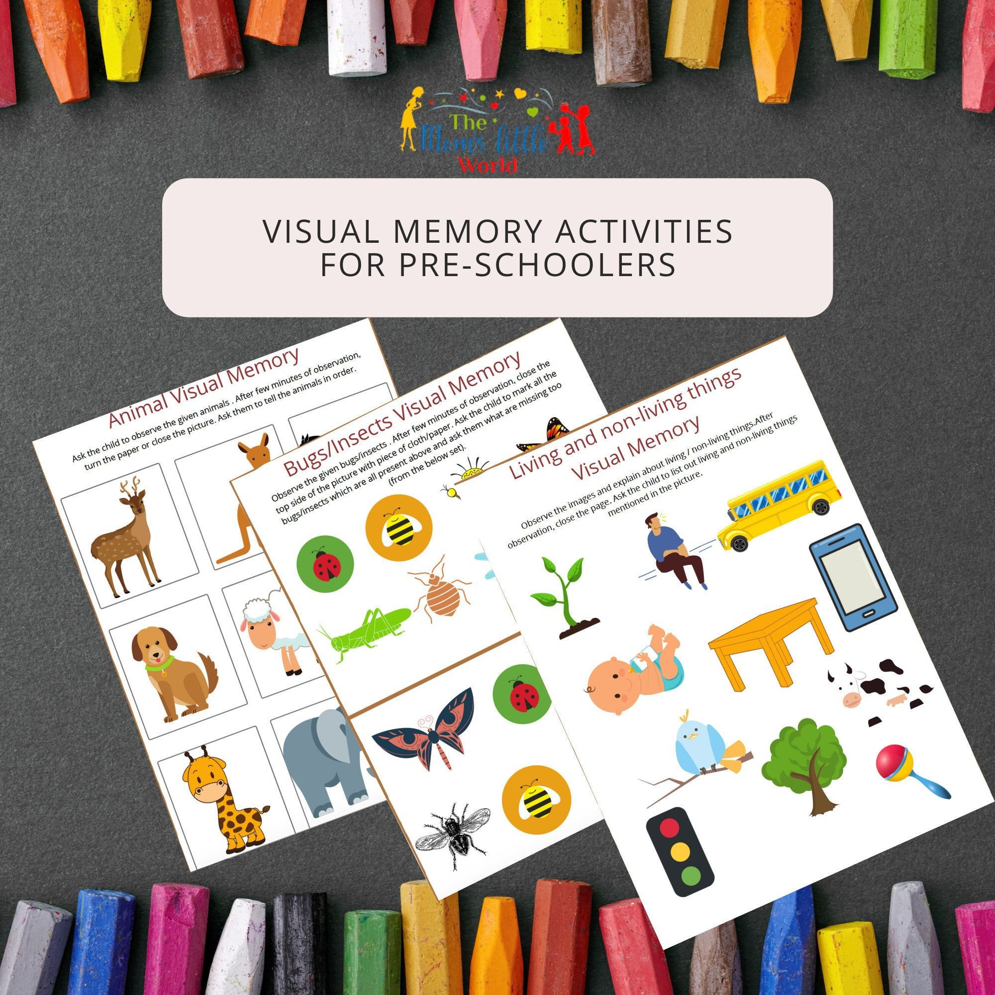 Visual Memory Worksheets Kids Printable Worksheets Visual Memory Activities