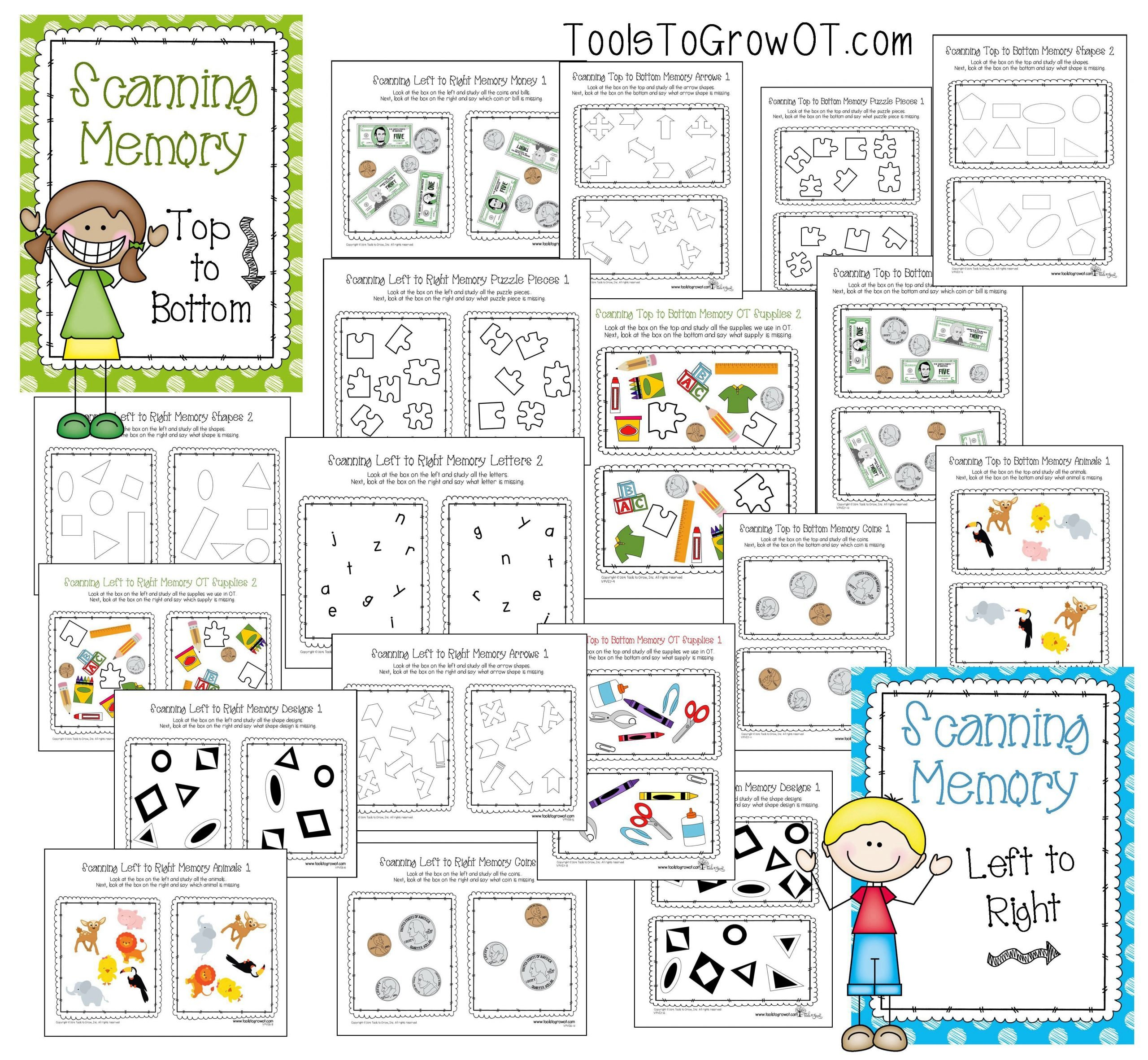 Visual Memory Worksheets Visual Memory Scanning Resources Visual Perceptual