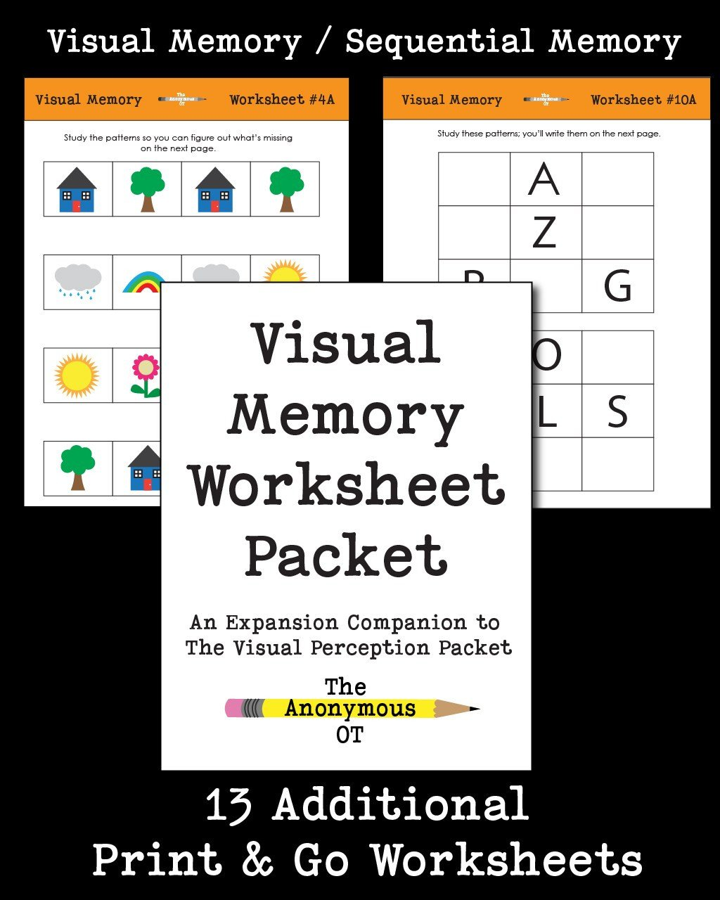Visual Memory Worksheet Packet