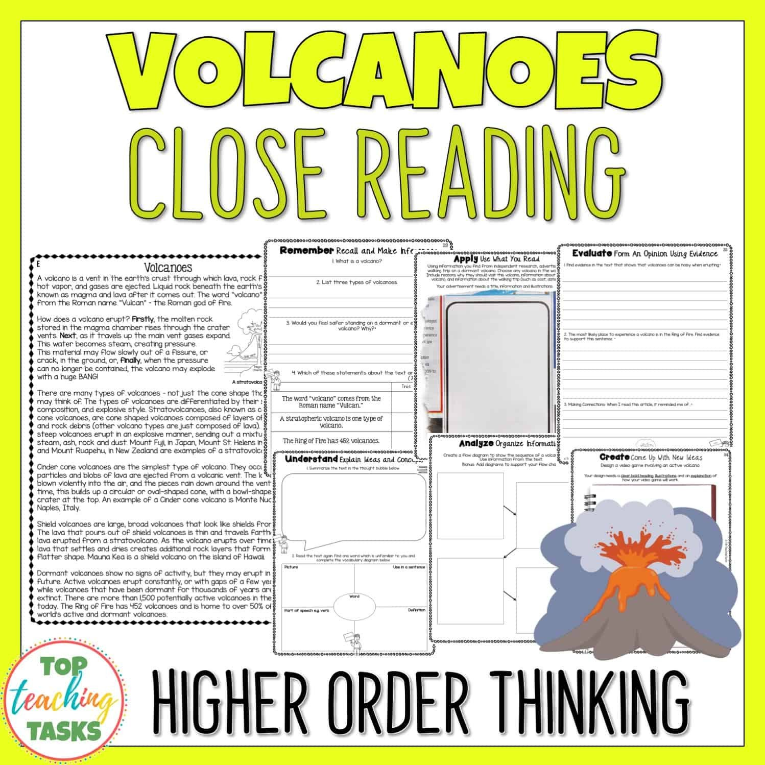 Volcanoes Reading prehension Passage and Questions
