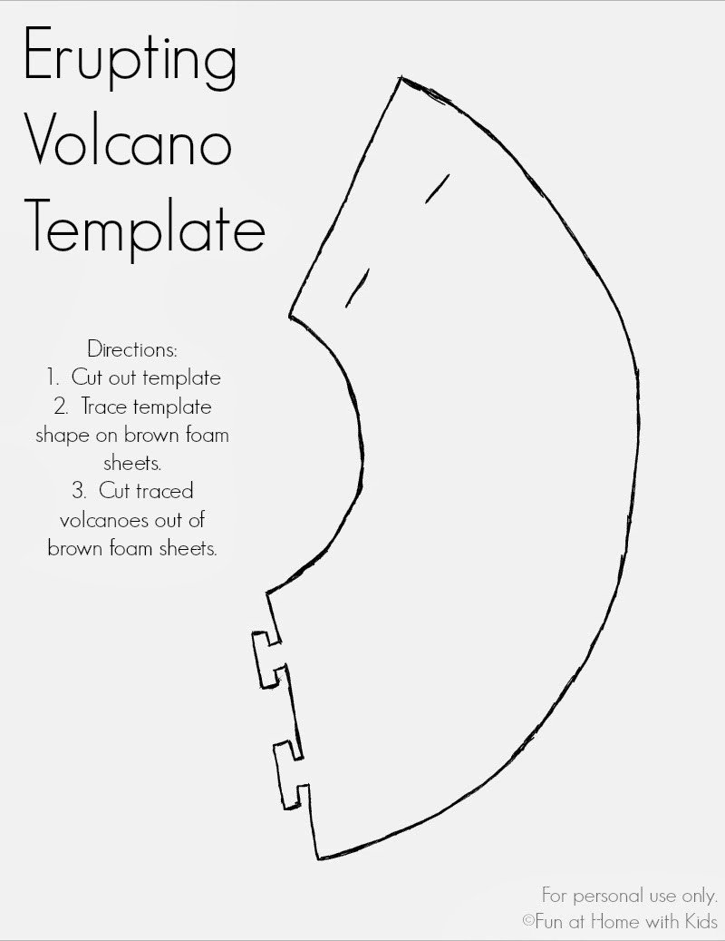 Volcano Worksheet for Kids Erupting Volcano Dinosaur Valentine or Party Favor Free
