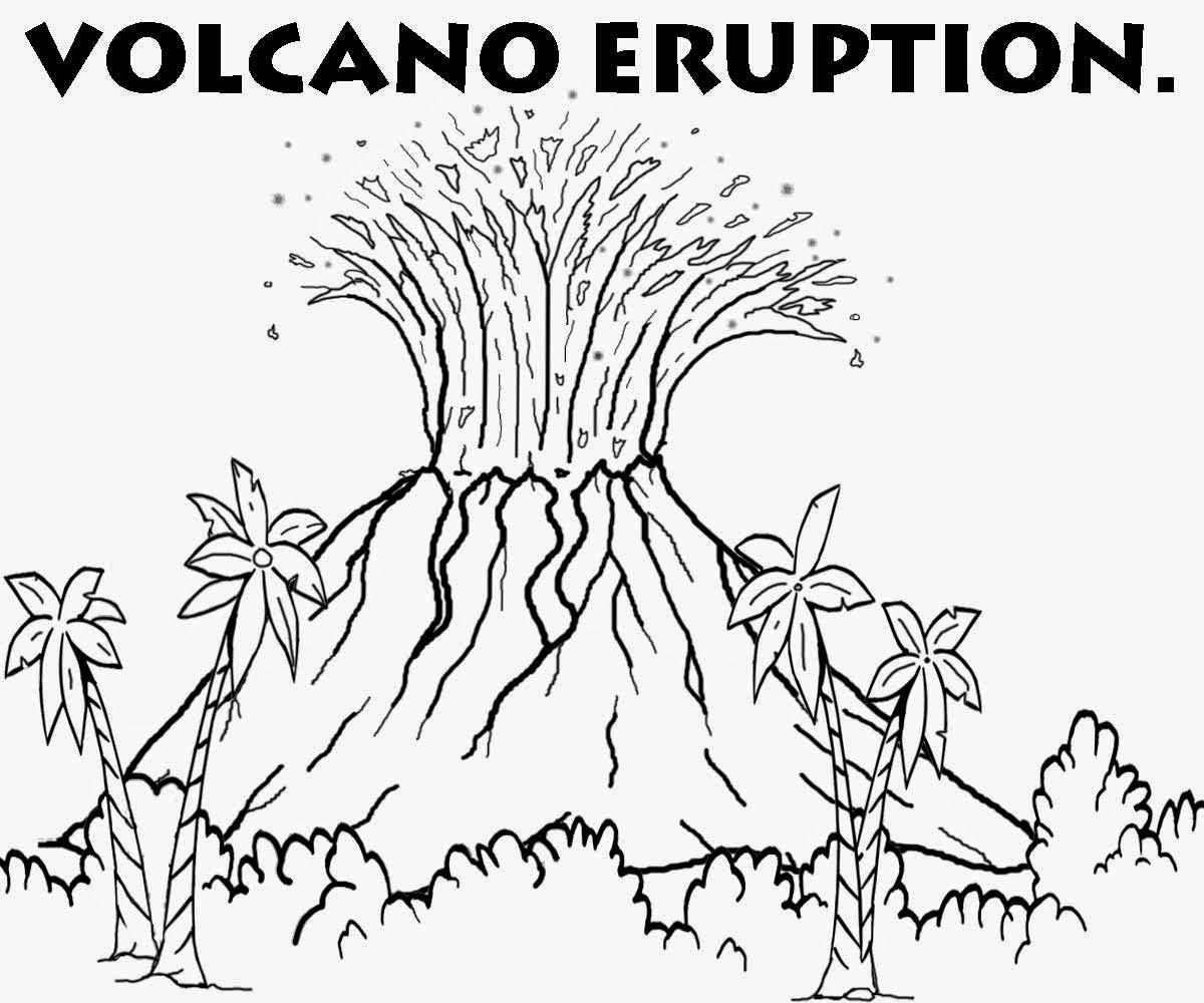 Volcano Worksheet for Kids Volcano Coloring Pages for Kids Coloring Home
