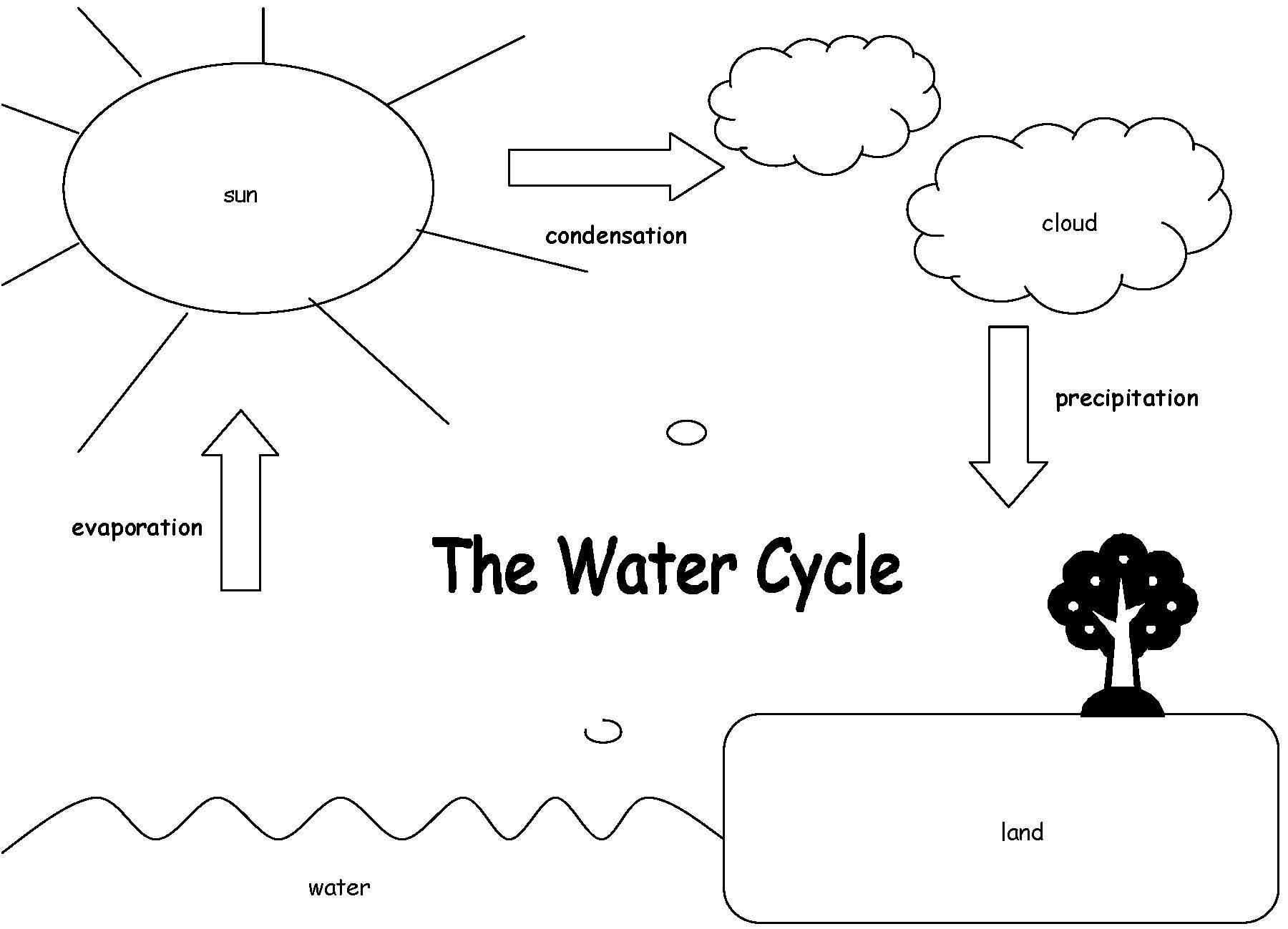 Water Cycle Worksheets 2nd Grade Label the Water Cycle Diagram Worksheet
