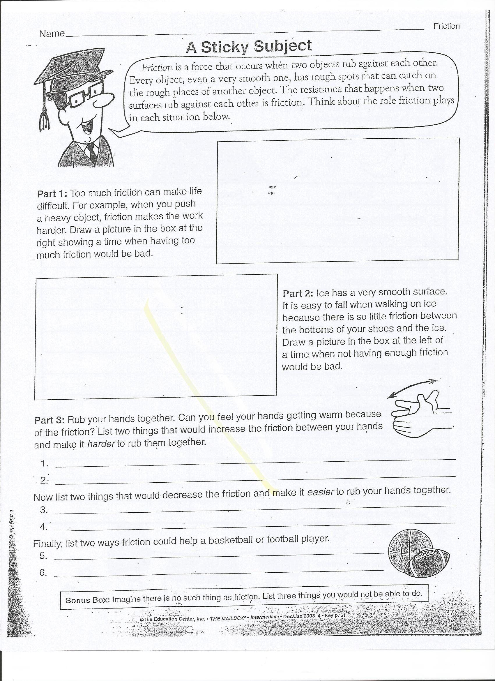 Worksheets On force and Motion force and Motion Mrs Wells Class