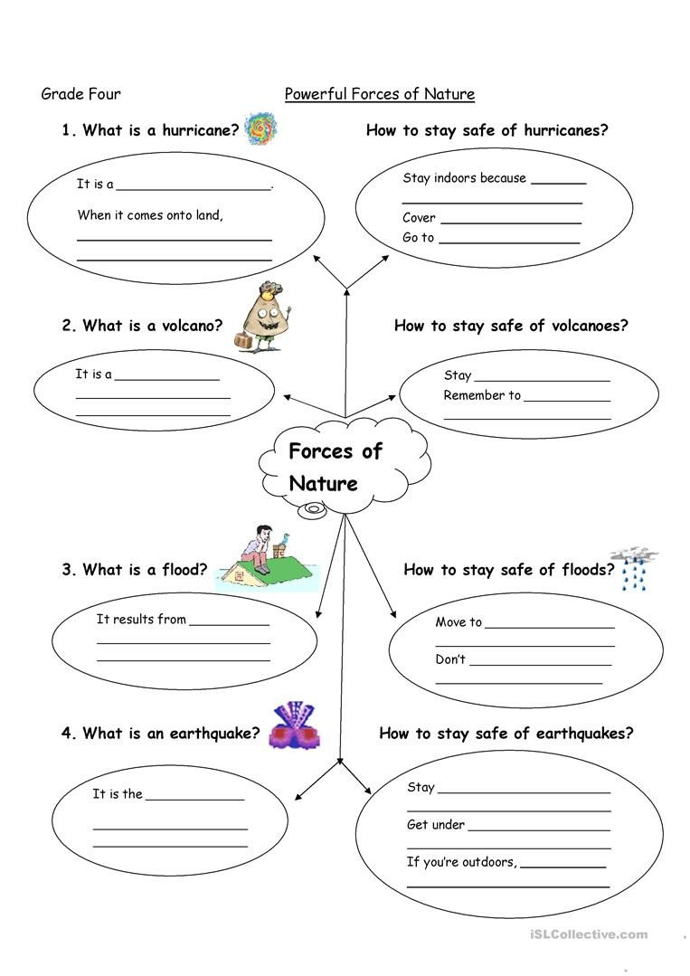 Worksheets On force and Motion forces Of Nature English Esl Worksheets for Distance