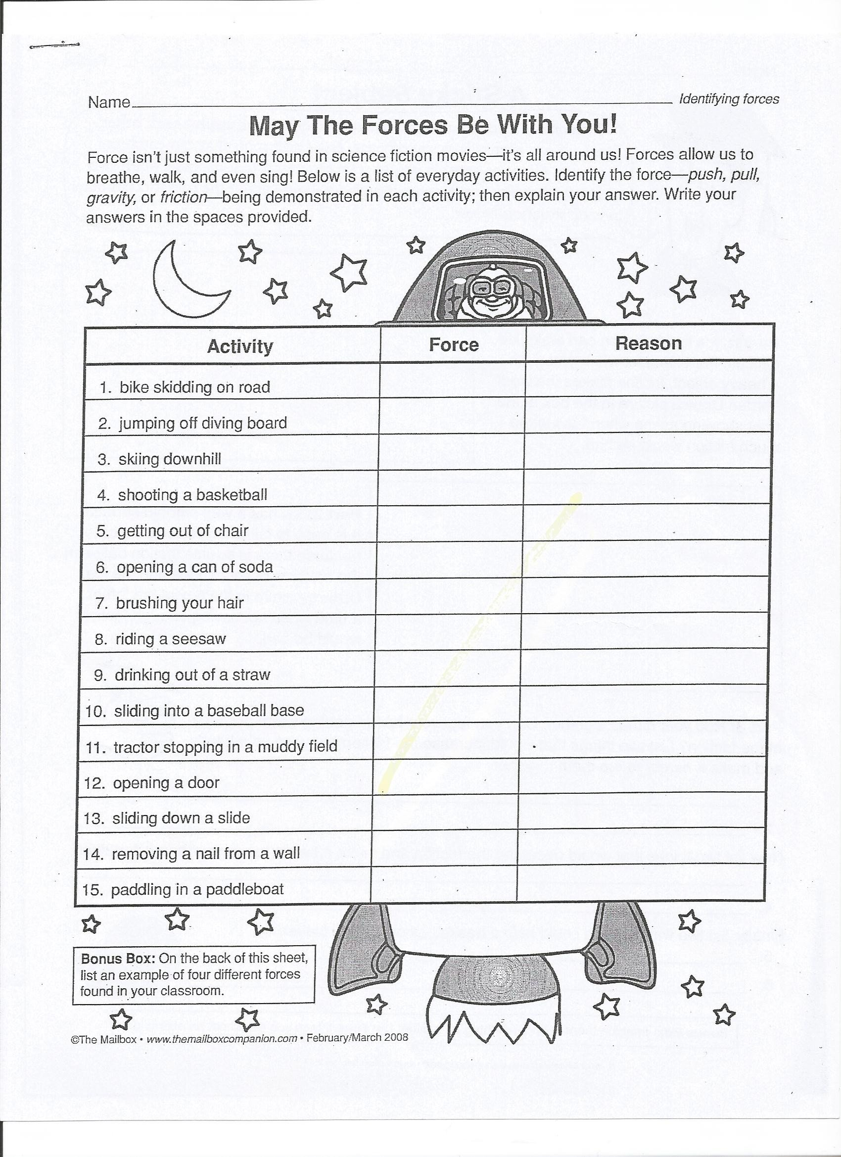 Worksheets On force and Motion How Can I Determine the Effects force Lessons Tes Teach