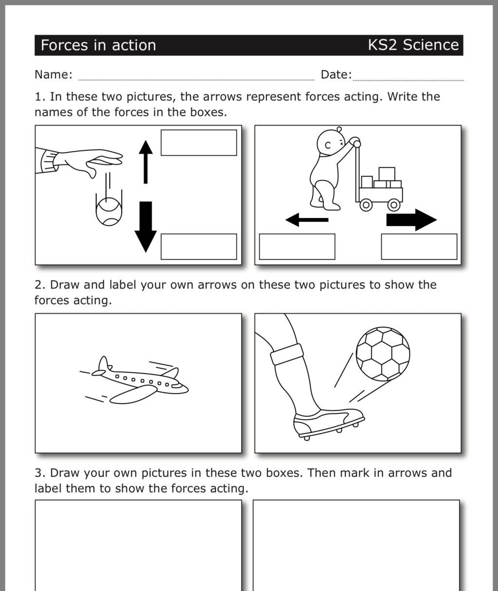 Worksheets On force and Motion Worksheet Pin by Dht forces force Motion Ks2 Science