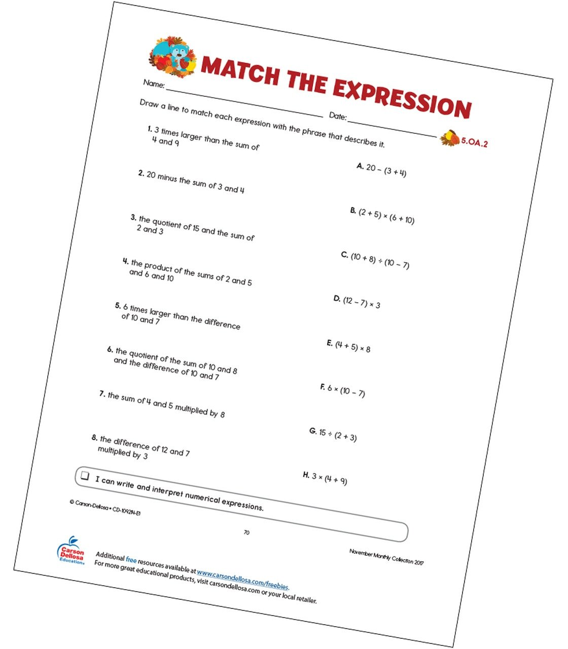 fr match the expression free printable fr