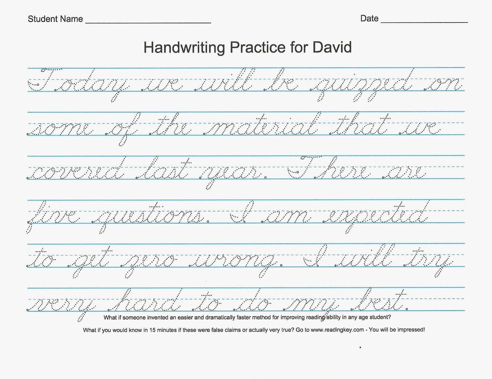free printable cursive writing worksheets for 4th grade 3
