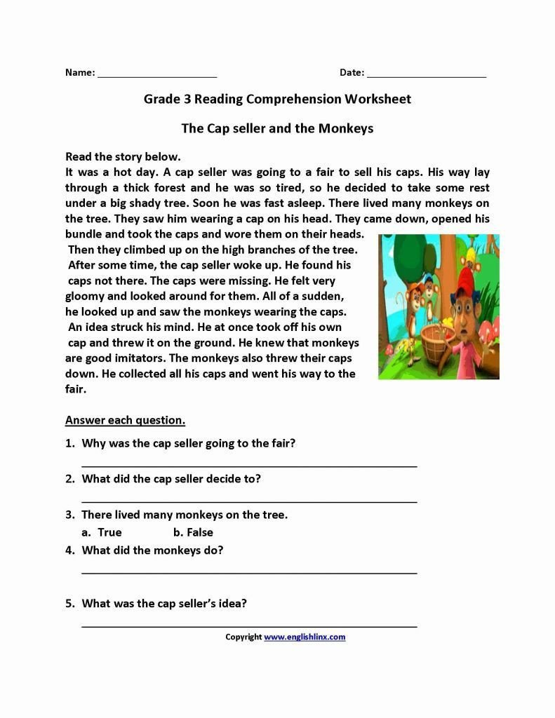 reading worskheets 7th grade reading and writing worksheets