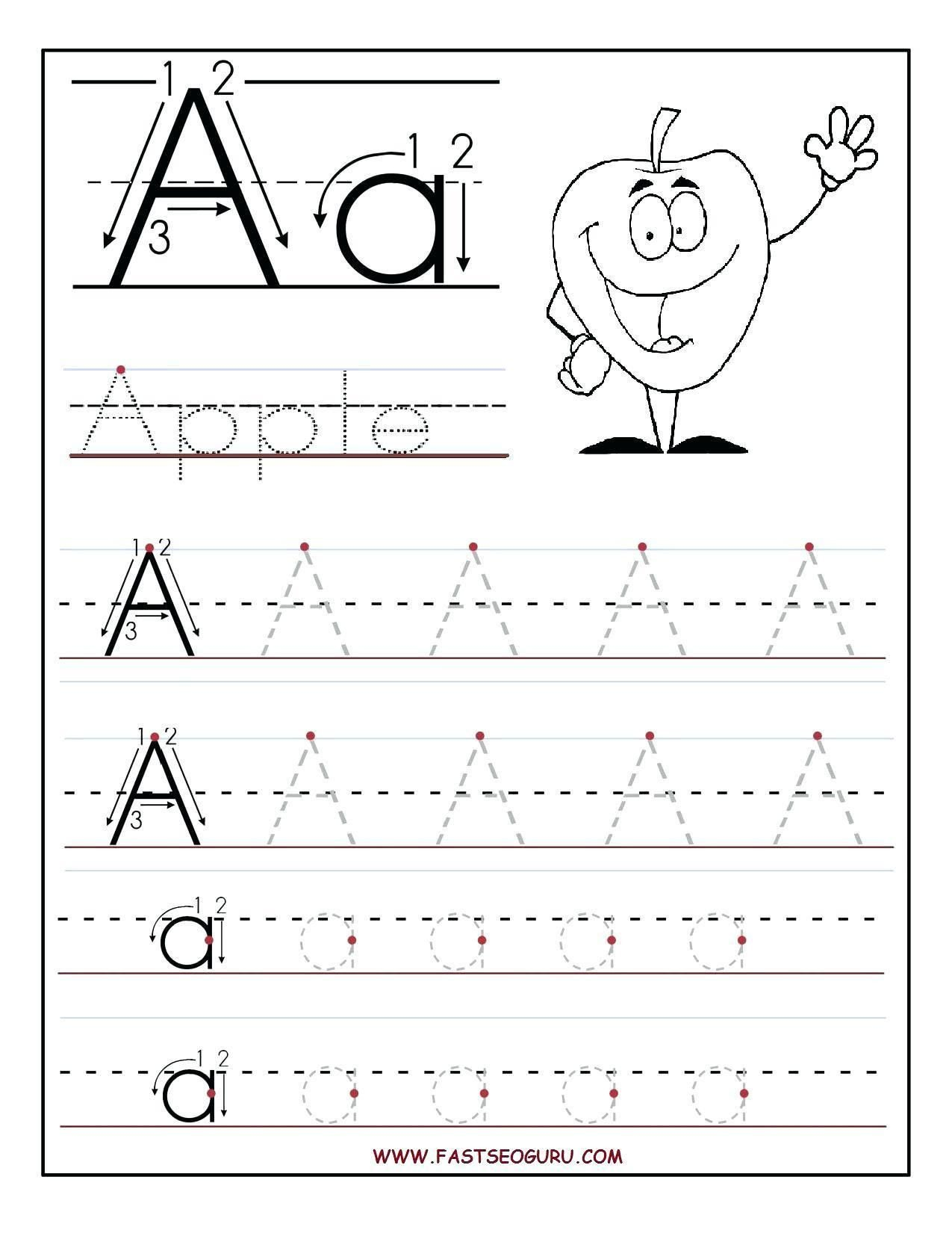 Abc Tracing Worksheets for Kindergarten 38 Abc Dotted Line Worksheet In 2020
