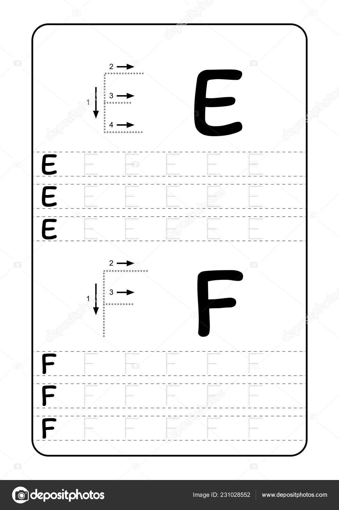 Abc Tracing Worksheets for Kindergarten Abc Alphabet Letters Tracing Worksheet with Alphabet Letters Basic Writing Practice for Kindergarten Kids A4 Paper Ready to Print Vector Illustration