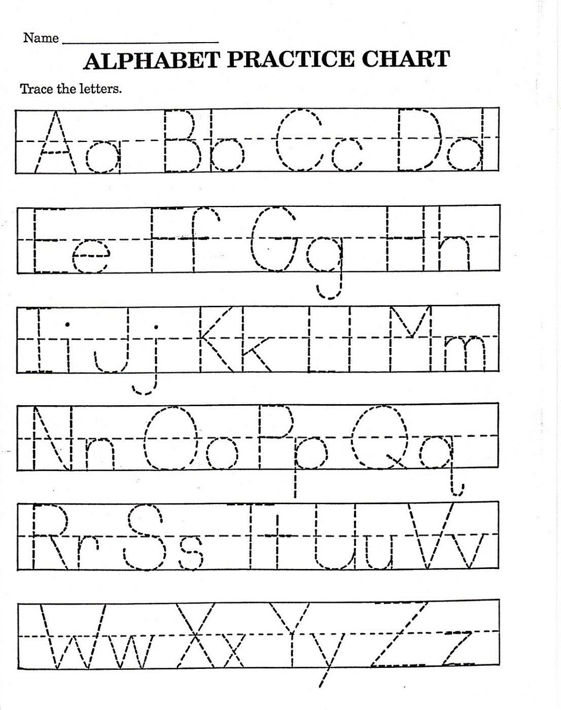 Abc Tracing Worksheets for Kindergarten Trace Letter Worksheets Free
