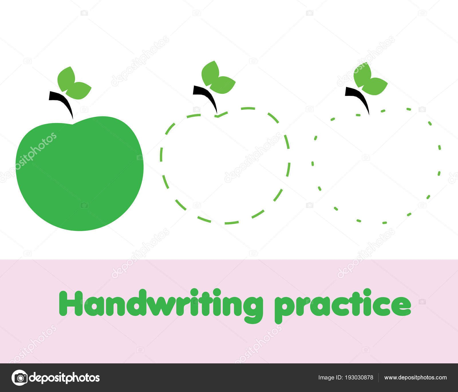 depositphotos stock illustration tracing lines toddlers apple fruit