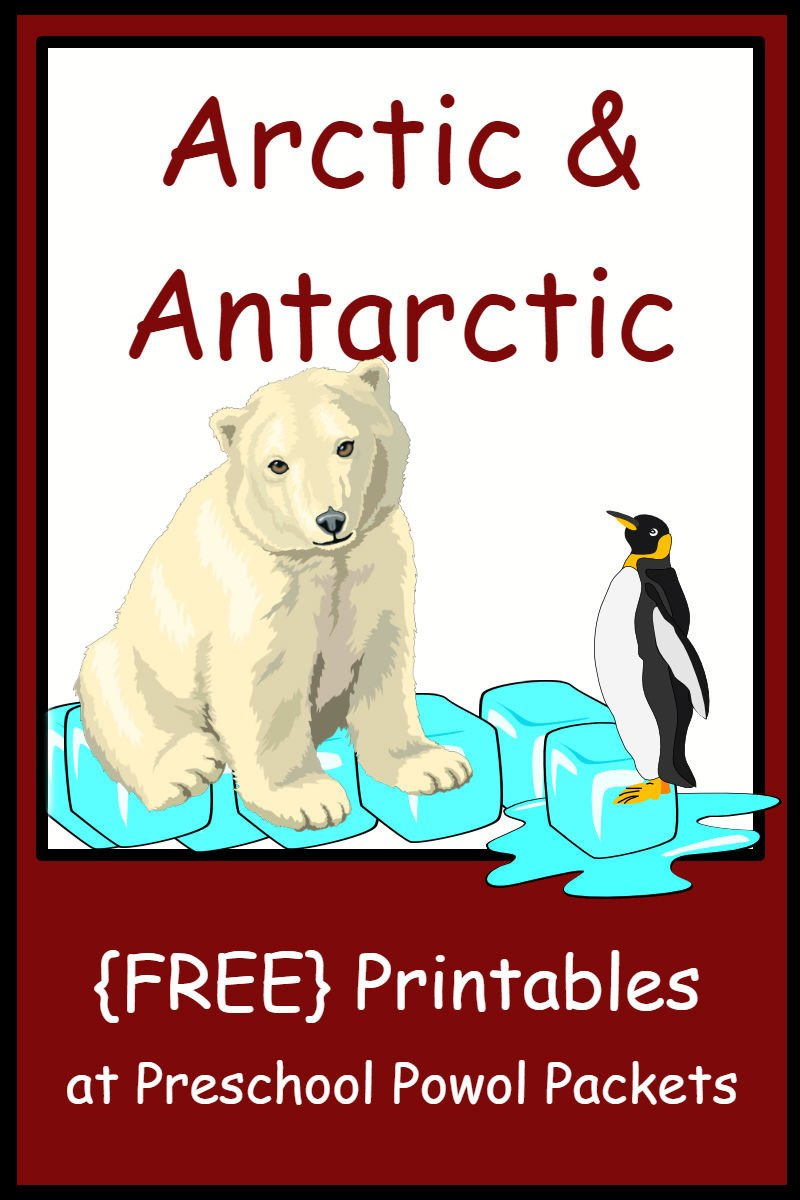 Arctic Animals Worksheets for Preschool Arctic & Antarctic themed Free Preschool Printables