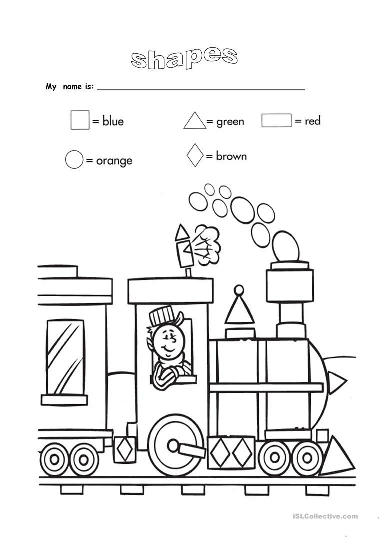Authority Figures Worksheets for Kindergarten English Esl Shapes Worksheets Most Ed 131 Results