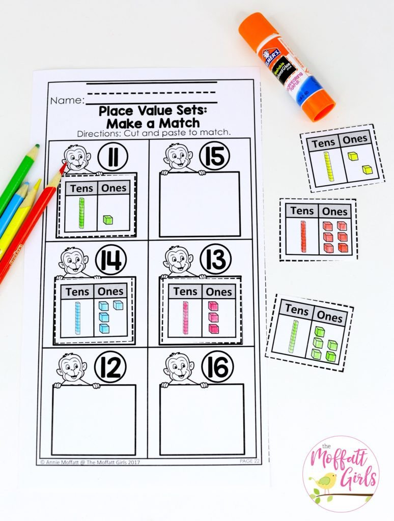 Base Ten Worksheets Kindergarten Kindergarten Math Place Value
