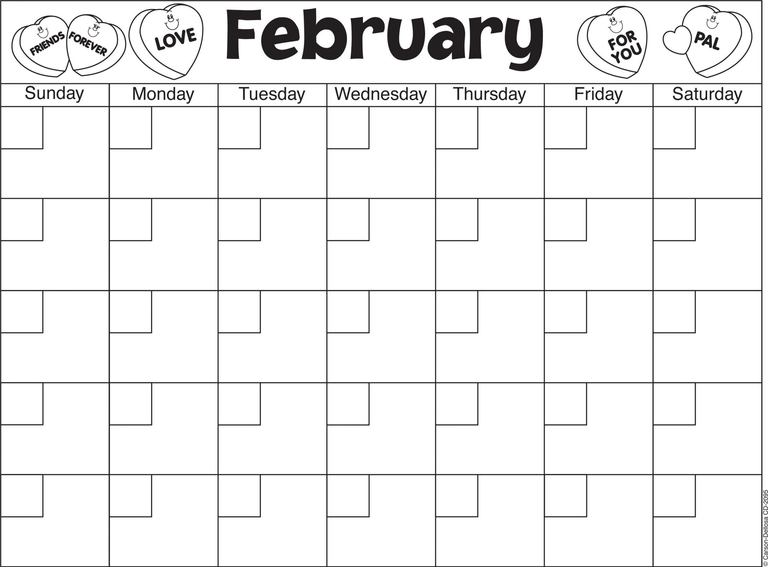 Calendar Worksheet for Kindergarten February Calendar Template Great Way to Practice Counting