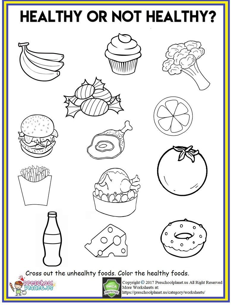 Categories Worksheets for Kindergarten Healthy Food Worksheet Out Th Flickr Worksheets Cool Fun