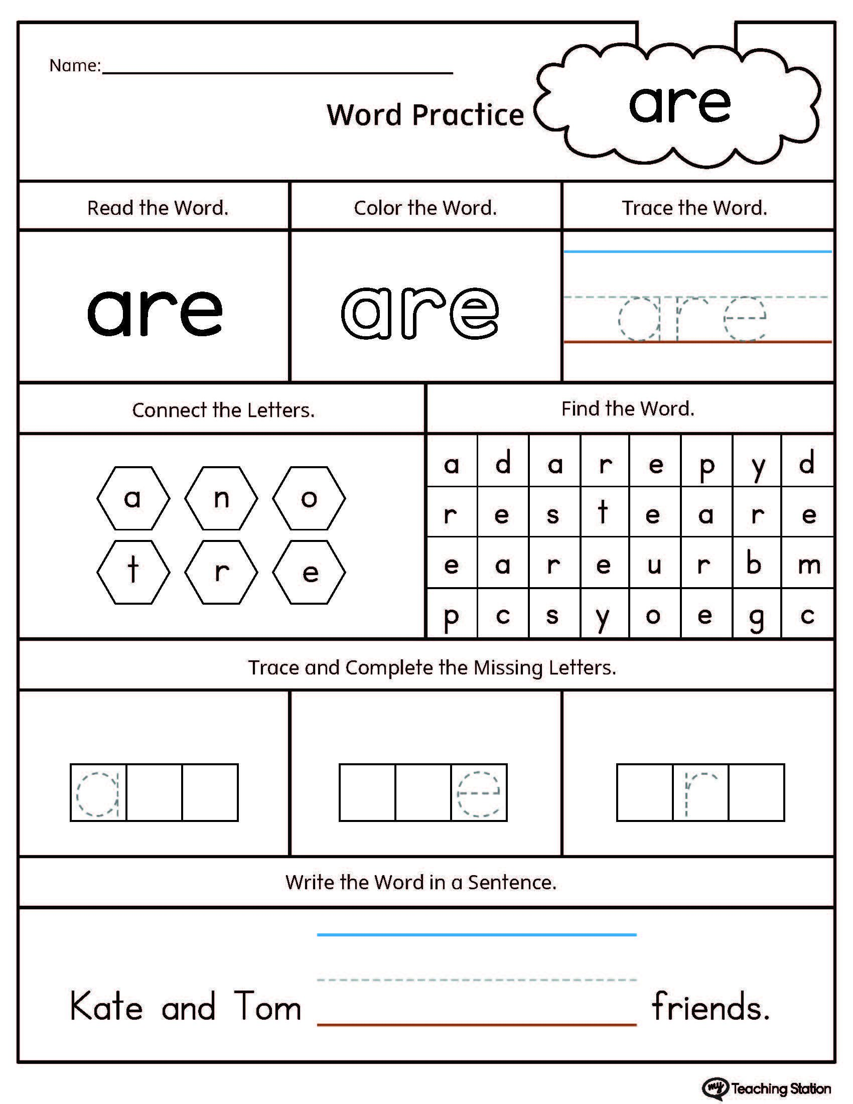 Ccvc Words Worksheets Kindergarten High Frequency Word are Printable Worksheet