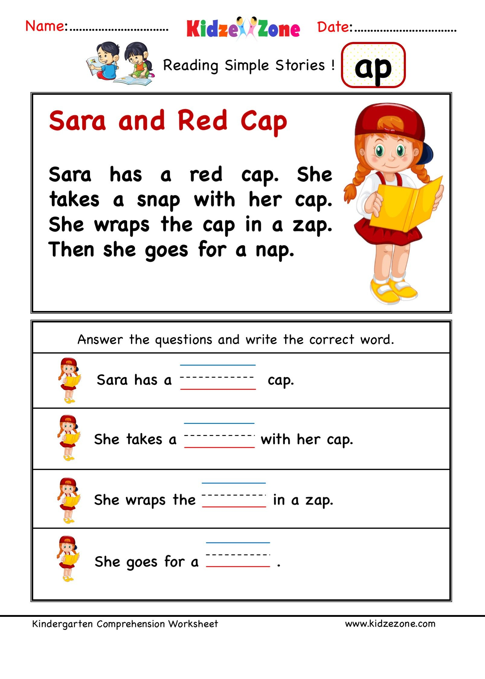 Ccvc Words Worksheets Kindergarten Kindergarten Worksheets Ap Word Family Prehension 3