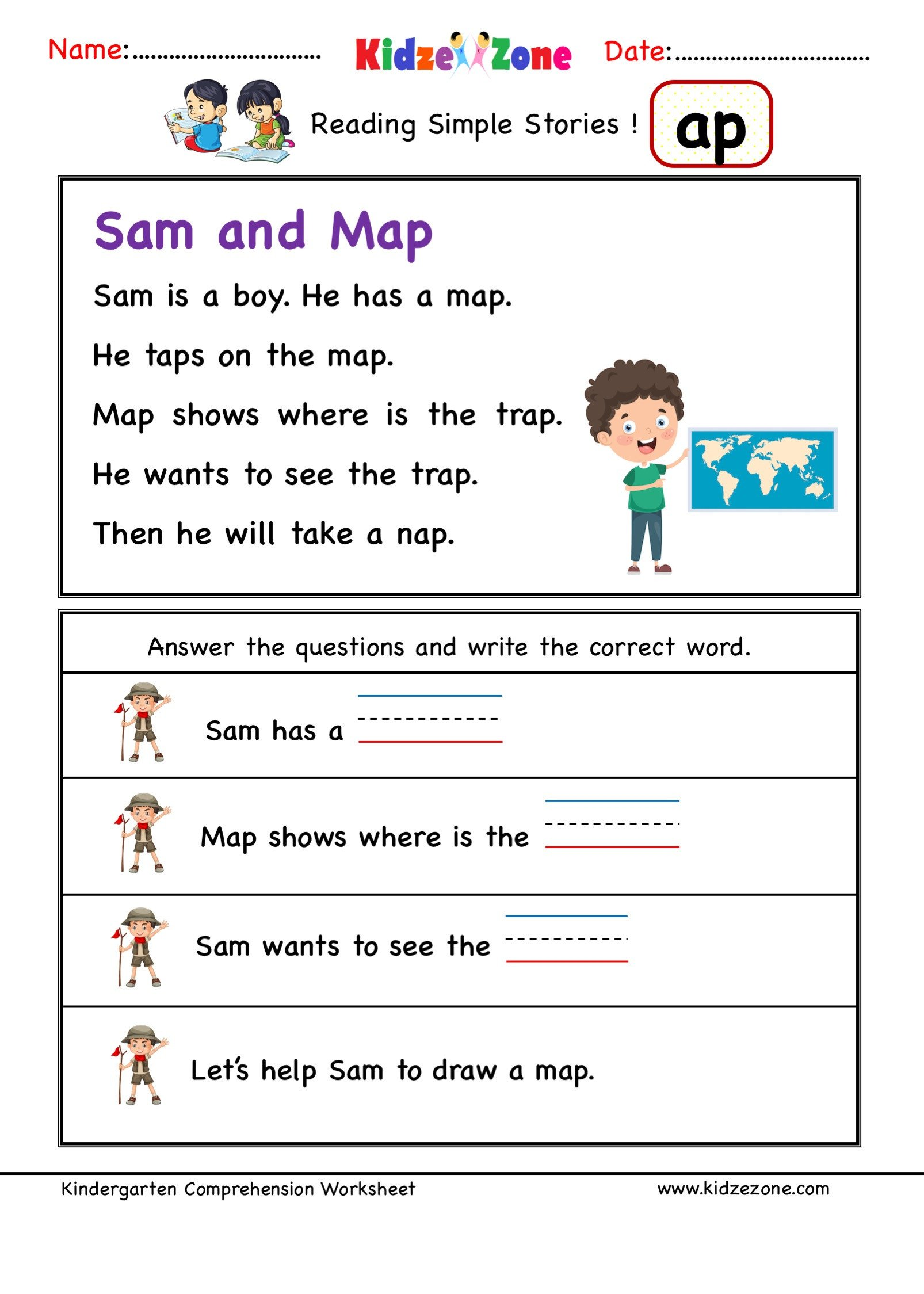 Ccvc Words Worksheets Kindergarten Kindergarten Worksheets Ap Word Family Reading Prehension