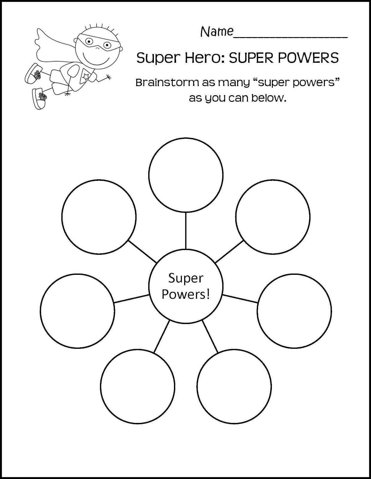 Character Worksheets for Kindergarten Help Kids Find their Superpower therapy Worksheets School